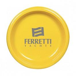 """Sunshine Yellow 10.25"""" Round Plastic Plate"""