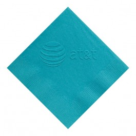 Caribbean Blue Embossed 3 Ply Colored Dinner Napkin
