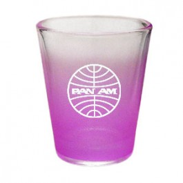 Clear / Neon Purple 1.5oz COLORED Shot Glass