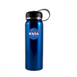 Electric Teal Blue / Black 26 oz Quest Stainless Steel Water Bottle - FCP