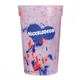 Red Blue 17 oz Confetti Stadium Cup