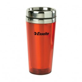 Transparent Red / Stainless 15 oz Color Stainless Steel Tumbler