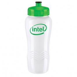 White / Neon Green 26 oz. Wave Poly-Clean(TM) Bottle