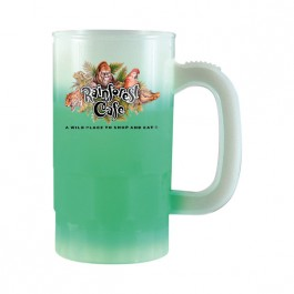 Frost / Green 14 oz Color Changing Beer Stein (Full Color)