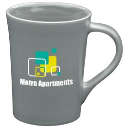 Gray 11 oz. Ceramic Horizon Coffee Mug