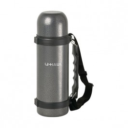 Gray 25 oz Engraved Hammered Vacuum Bottle