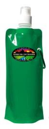Green 16 oz. Folding Water Bottle (Full Color)