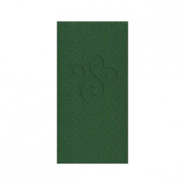 Green Embossed Linun Guest Towel