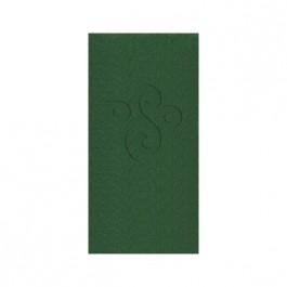 Green Embossed Linun Guest Towel