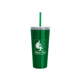 Green Stainless Insulated Sipper Cup