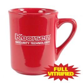 Red 8 1/2 oz Red Vitrified Diner Ceramic Coffee Mug