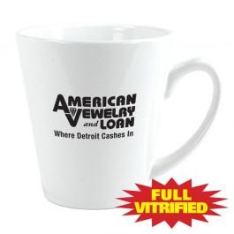 White 11 oz White Vitrified Restaurant Ceramic Coffee Mug