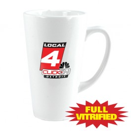White 15 oz White Vitrified Restaurant Ceramic Coffee Mug