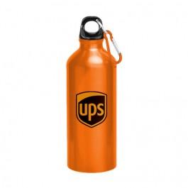 Orange 22 oz Aluminum Sports Bottle