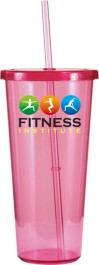 Pink 24 oz. Single-Wall Tumbler (Full Color)