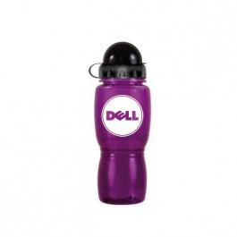 Purple / Black 18 oz Poly-Saver Mate Plastic Water Bottle