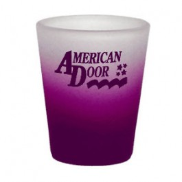 Purple / Clear 1.5oz 2 Tone Frosted Shot Glass