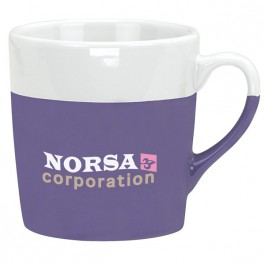 Purple 14 oz. Ceramic Dip Coffee Mug