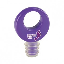 Purple Round Wine Stopper
