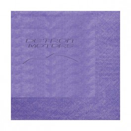 Purple Embossed Moire Luncheon Napkin