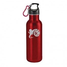 Red / Black 25 oz Wide-Mouth Stainless Steel Sports Bottle