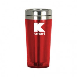 Red / Silver 16 oz Classic Stainless Steel Tumbler