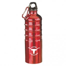 Red 27 oz Aluminum Sports Bottle with Multi-Ridges