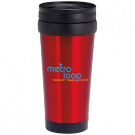 Red 15 oz. Stainless Deal Travel Tumbler