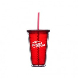 Red 16 oz Honeycomb Cup Tumbler