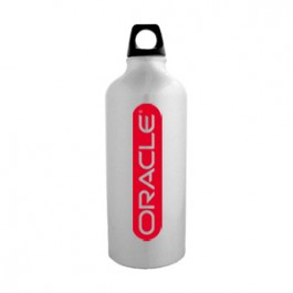 Silver / Black 20 oz Sport Flask Aluminum Water Bottle