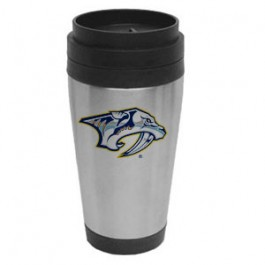 Stainless / Black 14oz Stainless Steel Travel Tumbler - FCP