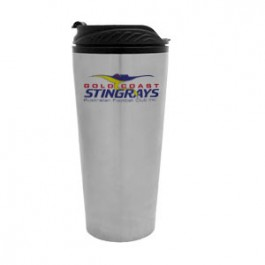 Stainless / Black 16oz Stainless Travel Tumbler - FCP