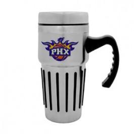 Stainless / Black 14oz Travel-Grip Stainless Mug - FCP