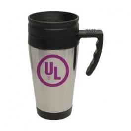 Stainless / Black 15oz Sport Driver Travel Mug