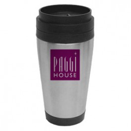 Stainless / Black 14oz Stainless Steel Travel Tumbler