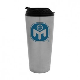 Stainless / Black 16oz Stainless Travel Tumbler