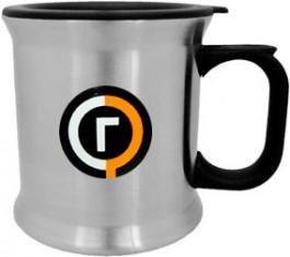 Stainless / Black 12oz Stainless Steel VIP Travel Mug-