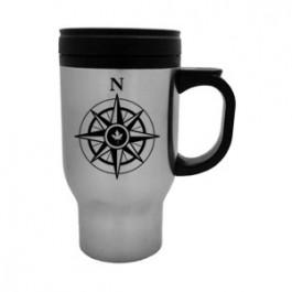 Stainless / Black 16oz Stainless Sleek-Bullet travel Mug