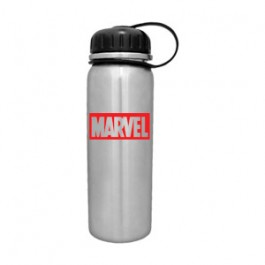 Stainless / Black 25oz Stainless PT Cylinder Water Bottle