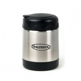 Stainless / Black 14 oz Stainless Steel Food Jar