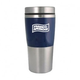 Stainless / Blue 14oz Acrylic Band Stainless Travel Tumbler