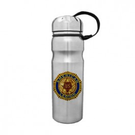 Stainless 25oz Stainless Top Cylinder Bottle with Finger Groove - FCP