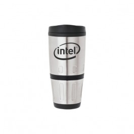 Stainless / Black 16 oz. Insulated Daily Tumbler