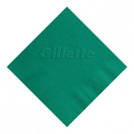 Teal Embossed 3 Ply Colored Luncheon Napkin