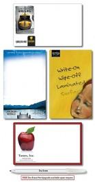 White 5.25 x 8.5 Extra-Thick Laminated Mini Memo Board
