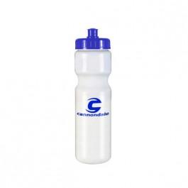 White / Blue 28 oz Cycle Water Bottle
