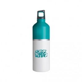 White / Teal 25 oz 2-Tone Color Spot Aluminum Water Bottle