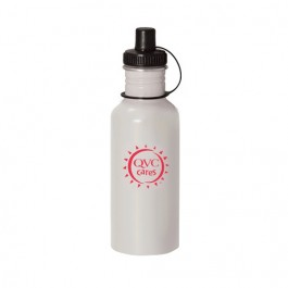 White 20 oz Wide-Mouth Aluminum Sports Bottle