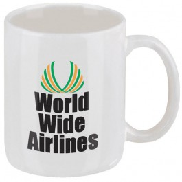 White 12 oz. Classic Ironstone White Coffee Mug
