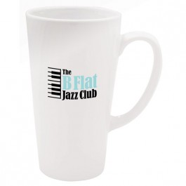 White 16 oz. Shiny Cafe White Coffee Mug